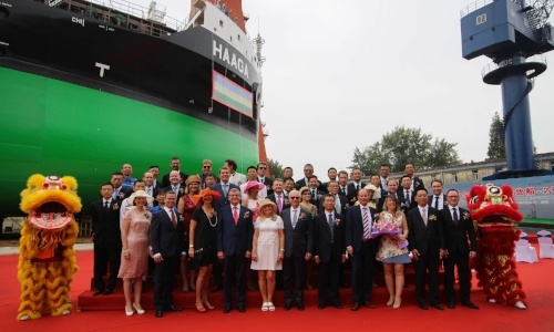 ESL Shipping's second LNG-fueled dry cargo vessel was named Haaga